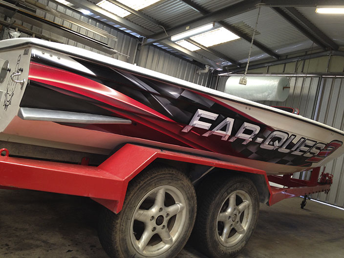 Vehicle Signage Hacked By Moroccan Agent Secret - Boat decals adelaide   easy removal